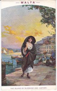 Girl - Poster Art MALTA The Island of Sunshine & History , 00-10s