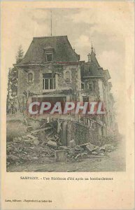 Old Postcard Sampigny Residence One summer after a bombing Army
