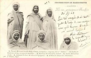 algeria, Margueritte's Insurrection The Six main Accused (1903) Postcard