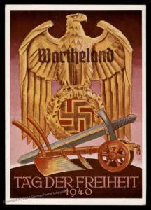 3rd Reich Germany Wartheland Posen Poland Tag der Freiheit Propaganda USED 90659