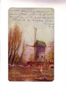 Closeup Windmill, Children, Charlton, Copywrite 1904 EP Charlton & Co Art Series
