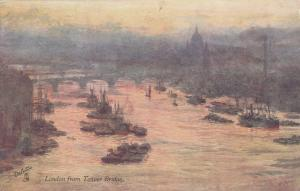 TUCK #7514  Father Thames Series 1 : LONDON from Tower Bridge, England , 1910