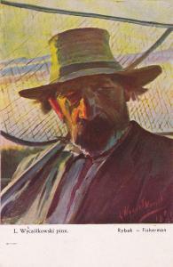 Rybak - Fisherman , Poland , 00-10s ; Artist L. Wyczolkowski pinx
