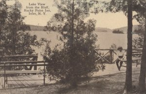 INLET, New York, 1919; Lake View from the Bluff, Rocky Point Inn