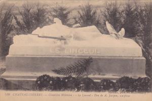 CHATEAU THIERRY, Aisne, France; Cimetirtr Miltaure, Le Linceul, Don de A. Jac...