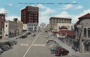 TEXARKANA , Arkansas , 30-40s ; State Line avenue looking North