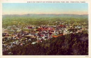BIRD'S EYE VIEW OF HOT SPRINGS NATIONAL PARK, AR, FROM STEEL TOWER