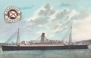 R.M.S.P. Co. Ocean Liner S.S. ARAGON , 00-10s