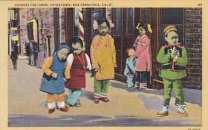 California San Francisco Chinatown Chinese Children