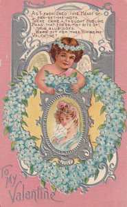 VALENTINE Greetings: A Cherub Holding A Frame With A Lady´s Picture, 00-10s