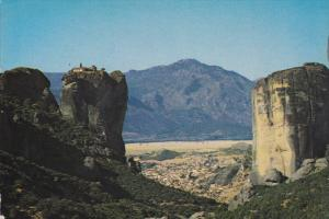 Rocks and Roussanou Cloister, METEORA, Greece, 50-70's