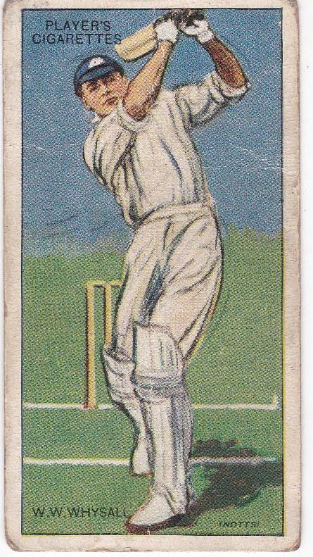 Cigarette Cards Player's Cricketers 1930 No 47 - W W Whysall