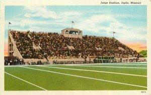 Joplin Missouri Jungle Stadium Adams News Teich linen Postcard 21-10305