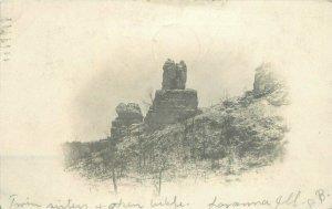Moline Illinois Twin Sisters Rocks undivided Postcard 21-6223