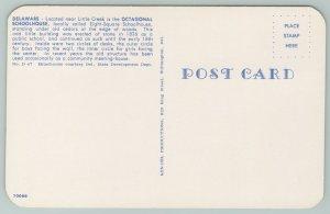 Delaware~Octagonal Schoolhouse Near Little Creek~Vintage Postcard