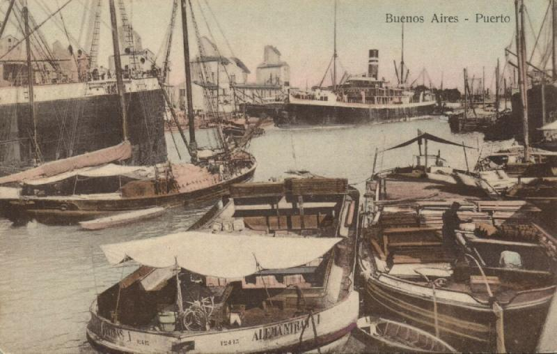 argentina, BUENOS AIRES, Puerto Porto Harbour Ships (1910s)
