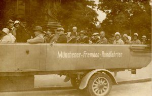Germany - Munich. Tourist Bus.  RPPC