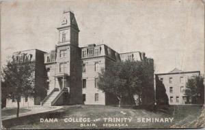 Blair NE~2nd Empire Dana College, Trinity Seminary~Mansard Roof~Widows Walk 1913