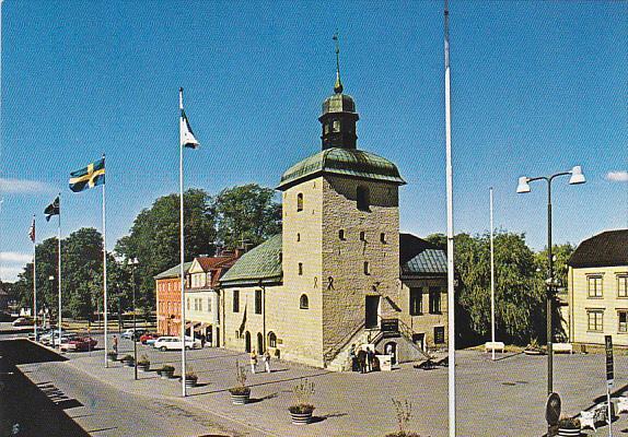 Sweden Vadstena Torget med Radhuset