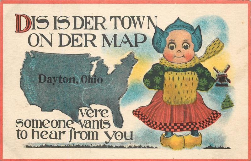 Dayton Ohio Der Town on Der US MapPigeon Toed Dutch Girl Vants to