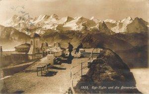 RPPC Rigi-Kulm und die Berneralpen #1323 Switzerland Real Photo Postcard