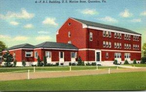 Virginia Quantico F B I Building U S Marine Base Curteich
