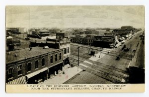 Business District Sturdevant Bldg Chanute KS Vintage Postcard Standard View Card
