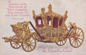Coronation Coach , King George VI & Queen Elizabeth , 1937 TUCK 3002