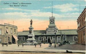 Callao _ Plaza y Monumento San Martin Peru.   Callao Plaza and