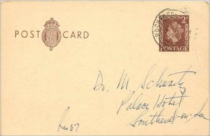 Entier Postal Stationery Postal Britain Great Britain to Southend on Sea