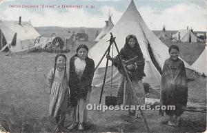 Indian Children Guying a Tenderfoot Indian 1918