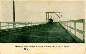 NH - Hampton. Hampton River Bridge, Longest Wooden Bridge in the World