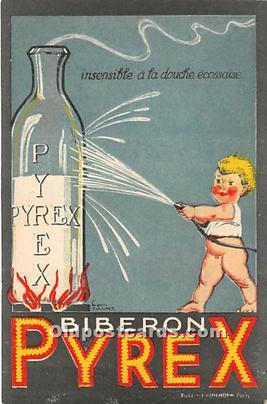 Advertising Postcard - Old Vintage Antique  Biberon Pyrex