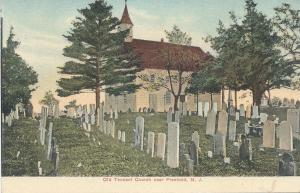 Old Tennant Church Near Freehold, New Jersey, Early Postcard, unused