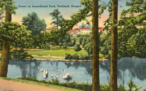 OR - Portland. Scene in Laurelhurst Park