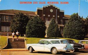 Weatherford OK Light Blue 1957 Buick Station Wagon~Southwestern State College