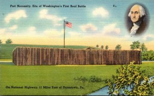 Pennsylvania Uniontown Fort Necessity Site Of Washington's First Real Ba...