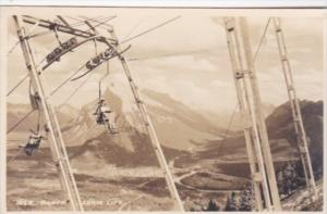 Canada Banff The Ski Chair Lift 1951 Real Photo