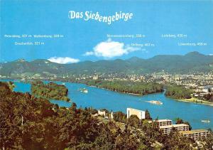 Bad Honnef Das Siebengebirge Gesamtansicht Oelberg Loewenburg Lohrberg