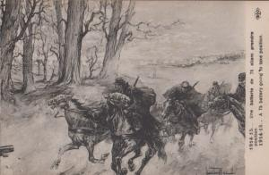 75 Battery French WW1 Military Battle Taking Position Antique Postcard
