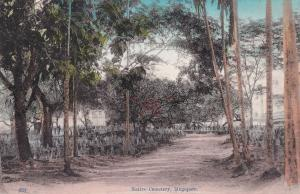 Native Cemetery Singapore Old Postcard