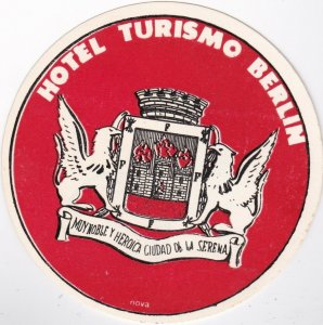 Mexico Ciudad Hotel Turismo Berlin Vintage Luggage Label lbl0190