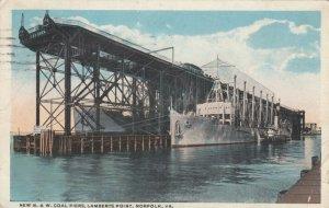 NORFOLK , Virginia ,1910 ; N. & W. Coal Piers