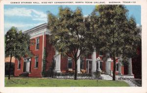 Sherman Texas~North Texas College~Kidd-Key Conservatory~Cammie Starnes Hall~1920