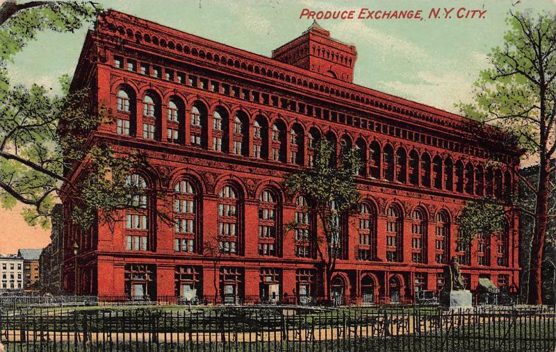 Produce Exchange, New York City, New York, Early Postcard, unused