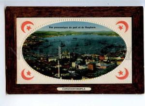 241114 TURKEY CONSTANTINOPLE Bosphore & port Vintage embossed