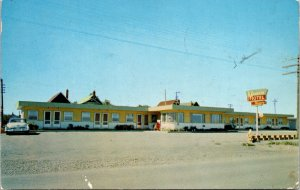 Moose Jaw Sask. Canada Maynard's Motel Postcard used 1963