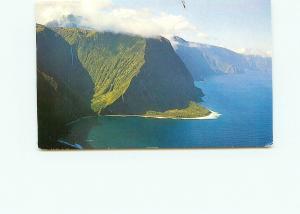 Postcard  Aerial View Molokai Hawaii North Shore Clouds Over Coast   # 4272A
