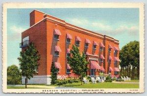 Poplar Bluff Missouri~Candy-Striped Awnings @ Brandon Hospital~Lawn Chairs~1936