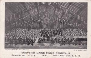 PORTLAND , Maine , 1906 ; Music Festival Band
